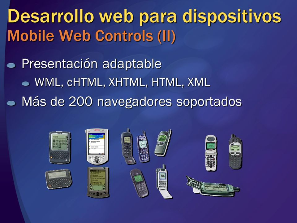 Desarrollo web para dispositivos Mobile Web Controls (II)