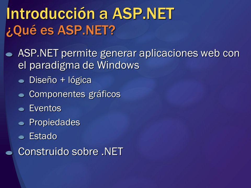 Introducción a ASP.NET ¿Qué es ASP.NET