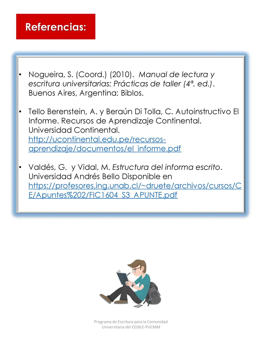 Programa de Escritura para la Comunidad Universitaria del CEDILE ...