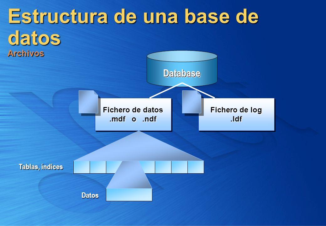 Estructura de una base de datos Archivos