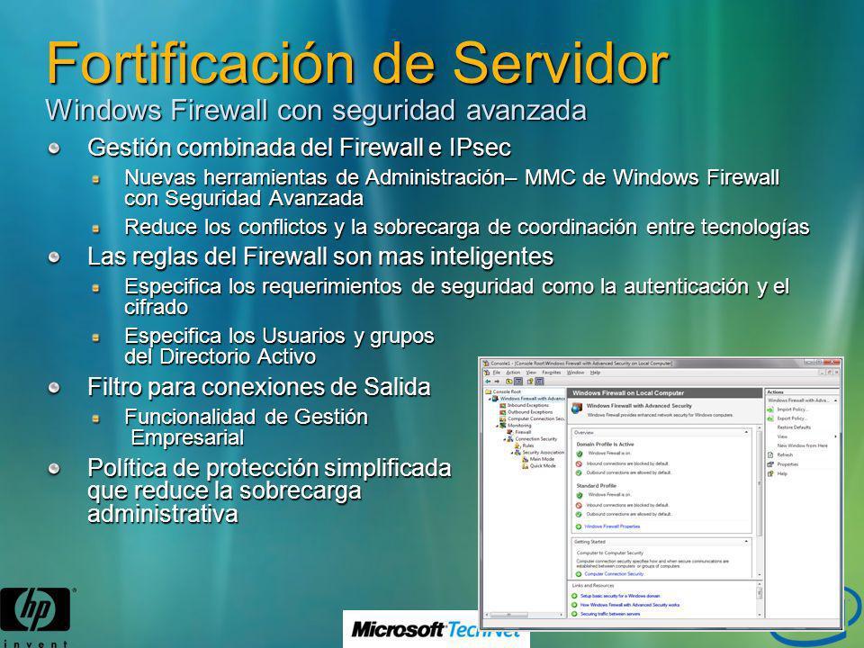 Fortificación de Servidor Windows Firewall con seguridad avanzada