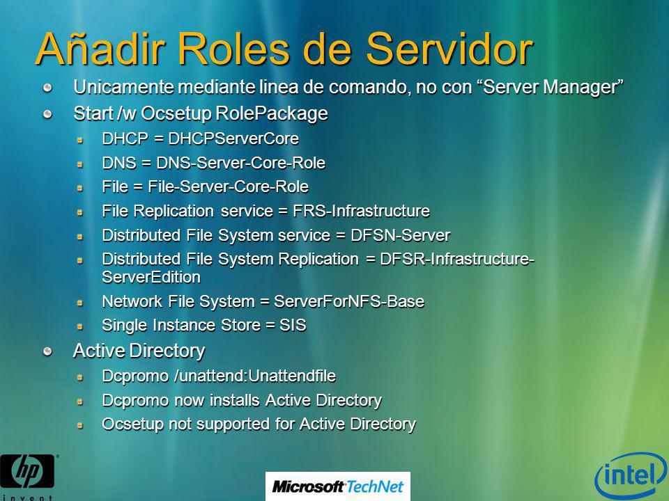 Añadir Roles de Servidor