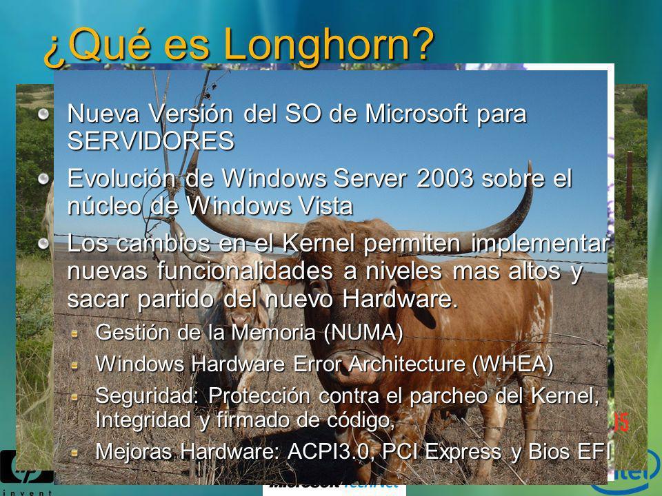 ¿Qué es Longhorn Nueva Versión del SO de Microsoft para SERVIDORES