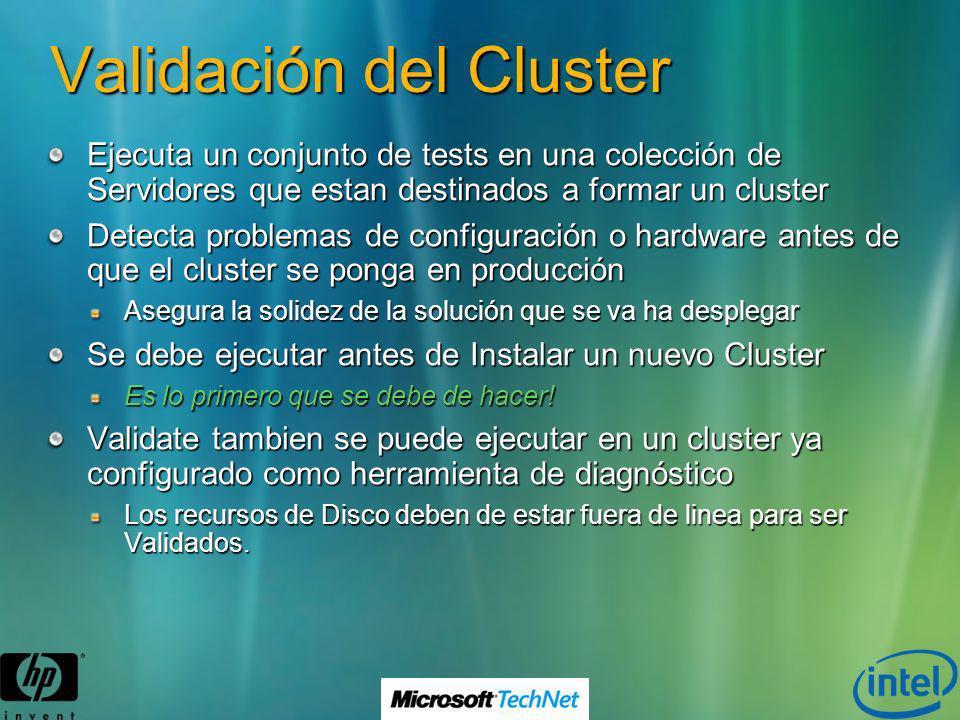 Validación del Cluster
