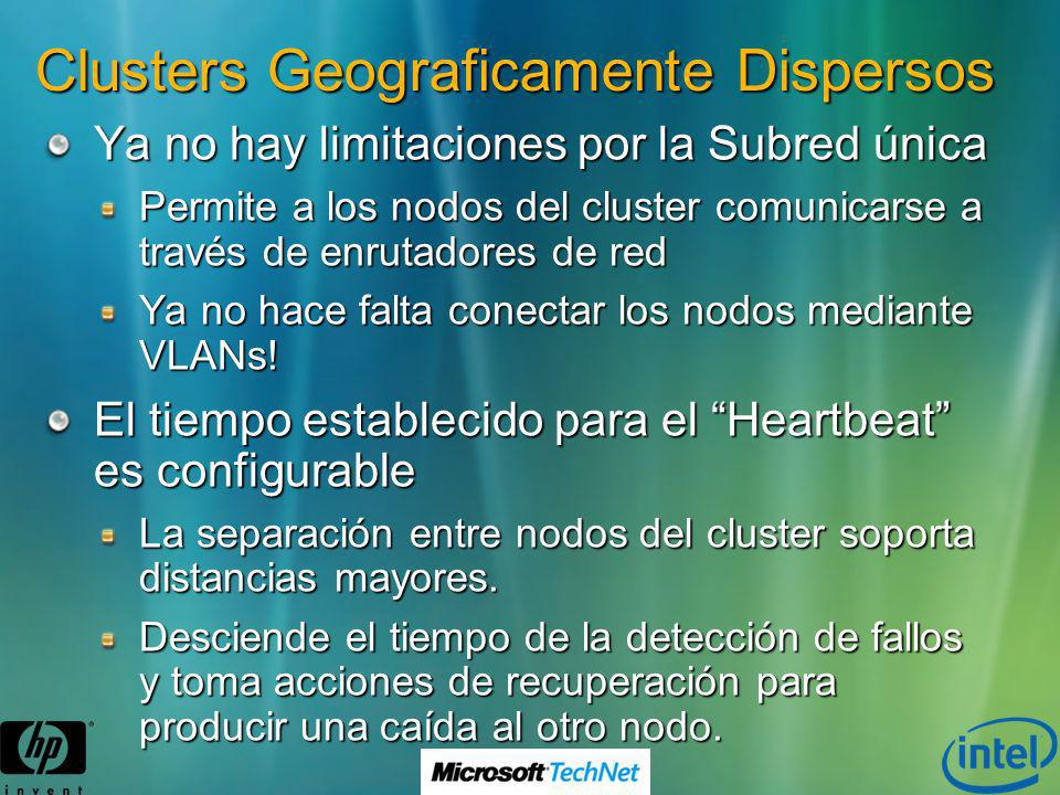 Clusters Geograficamente Dispersos