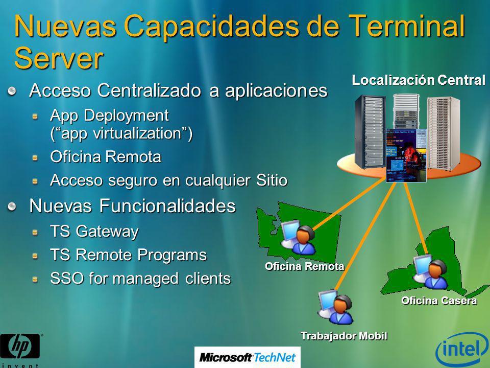 Nuevas Capacidades de Terminal Server