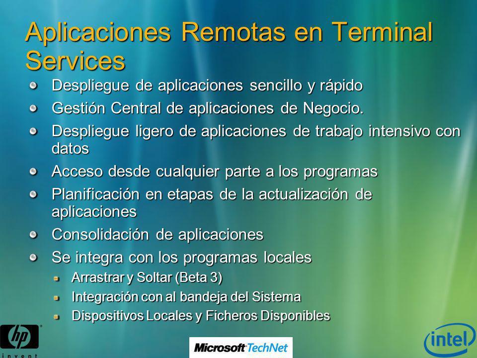 Aplicaciones Remotas en Terminal Services