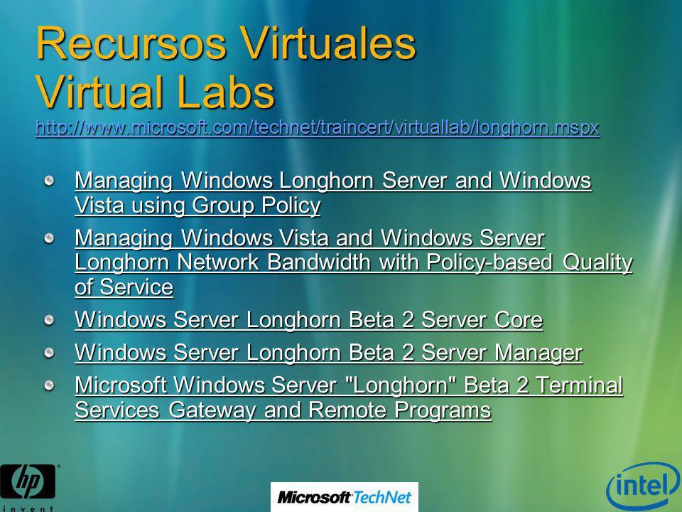 Recursos Virtuales Virtual Labs http://www. microsoft