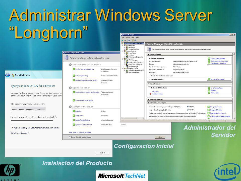 Administrar Windows Server Longhorn