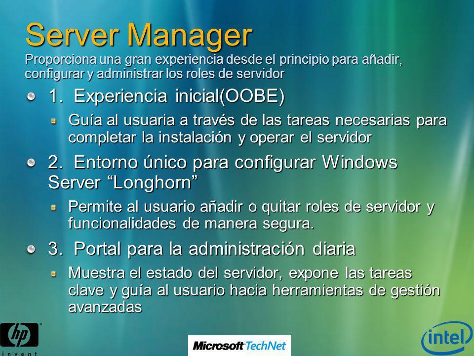 Server Manager Proporciona una gran experiencia desde el principio para añadir, configurar y administrar los roles de servidor
