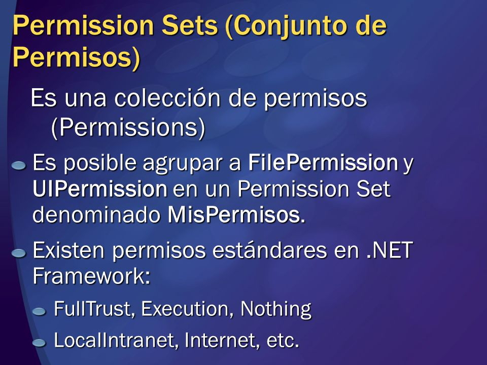 Permission Sets (Conjunto de Permisos)