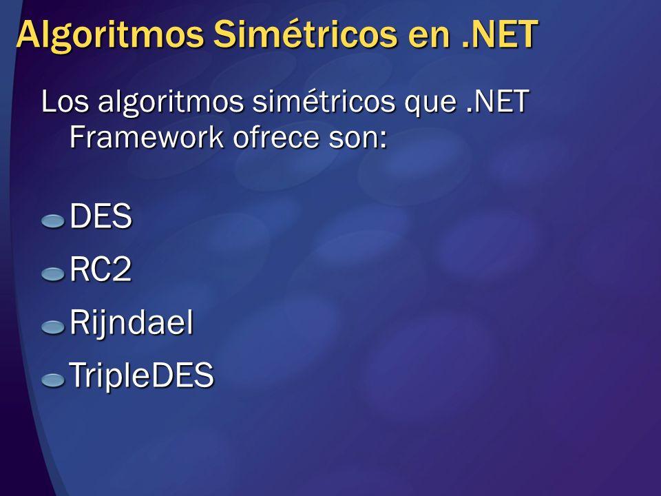 Algoritmos Simétricos en .NET