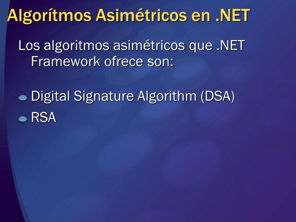 Algorítmos Asimétricos en .NET