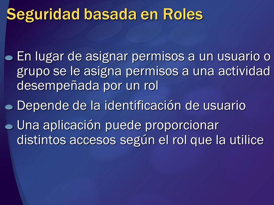 Seguridad basada en Roles