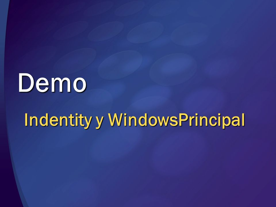 Demo Indentity y WindowsPrincipal MGB 2003