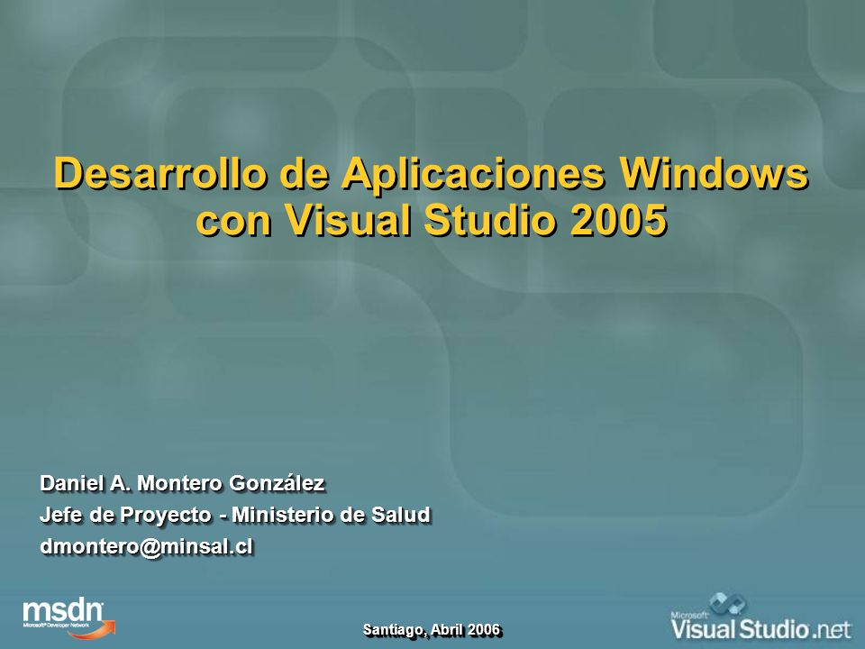 Desarrollo de Aplicaciones Windows con Visual Studio 2005