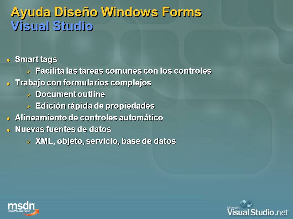 Ayuda Diseño Windows Forms Visual Studio