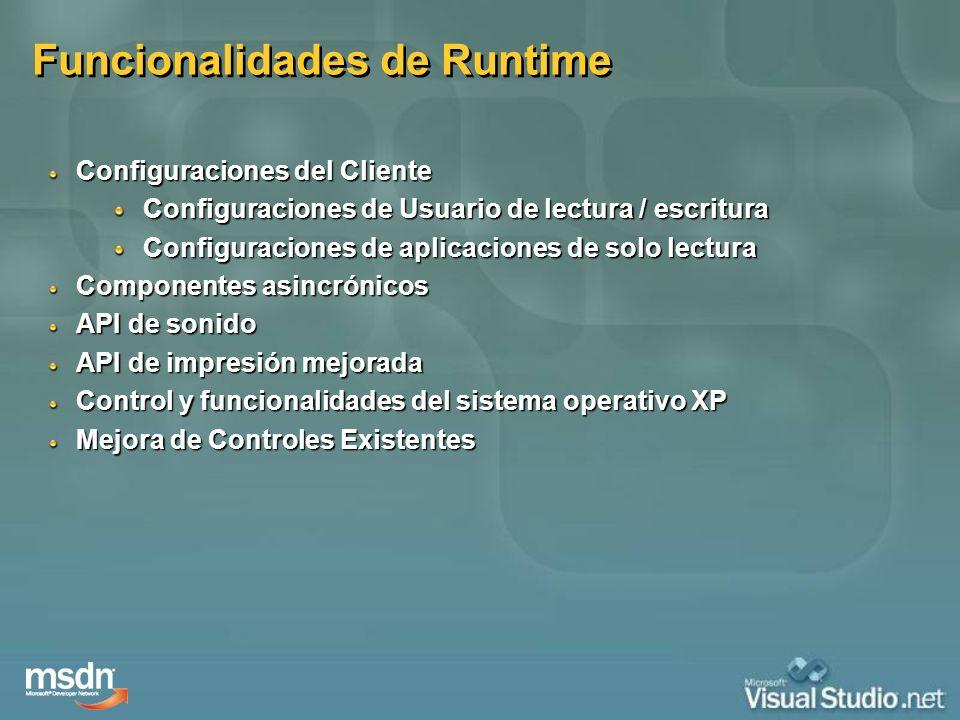Funcionalidades de Runtime