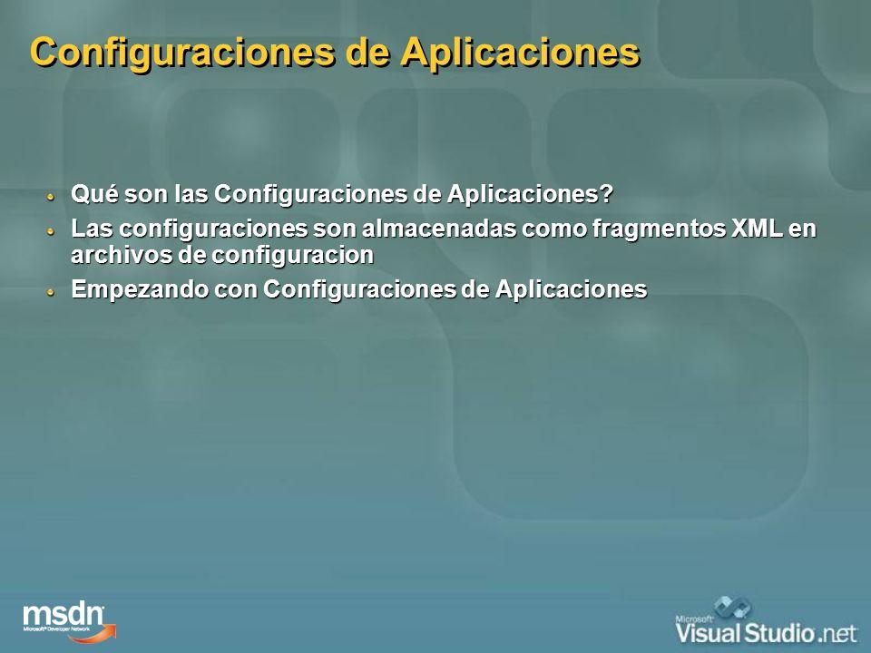 Configuraciones de Aplicaciones