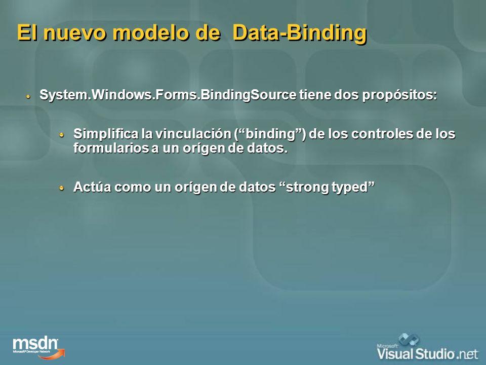 El nuevo modelo de Data-Binding