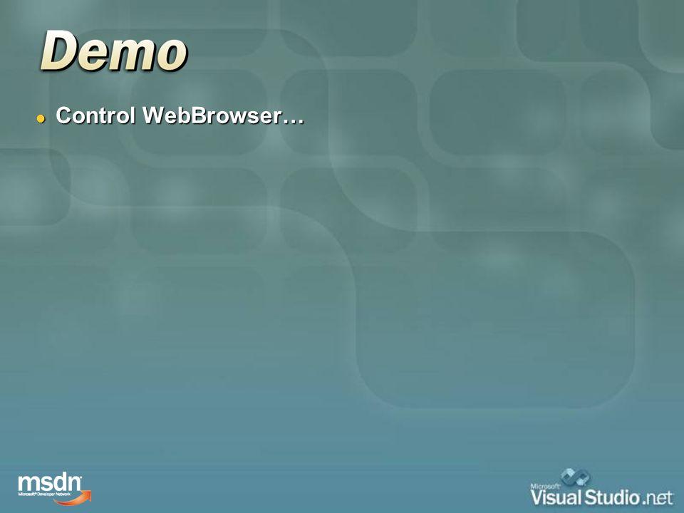 Control WebBrowser…