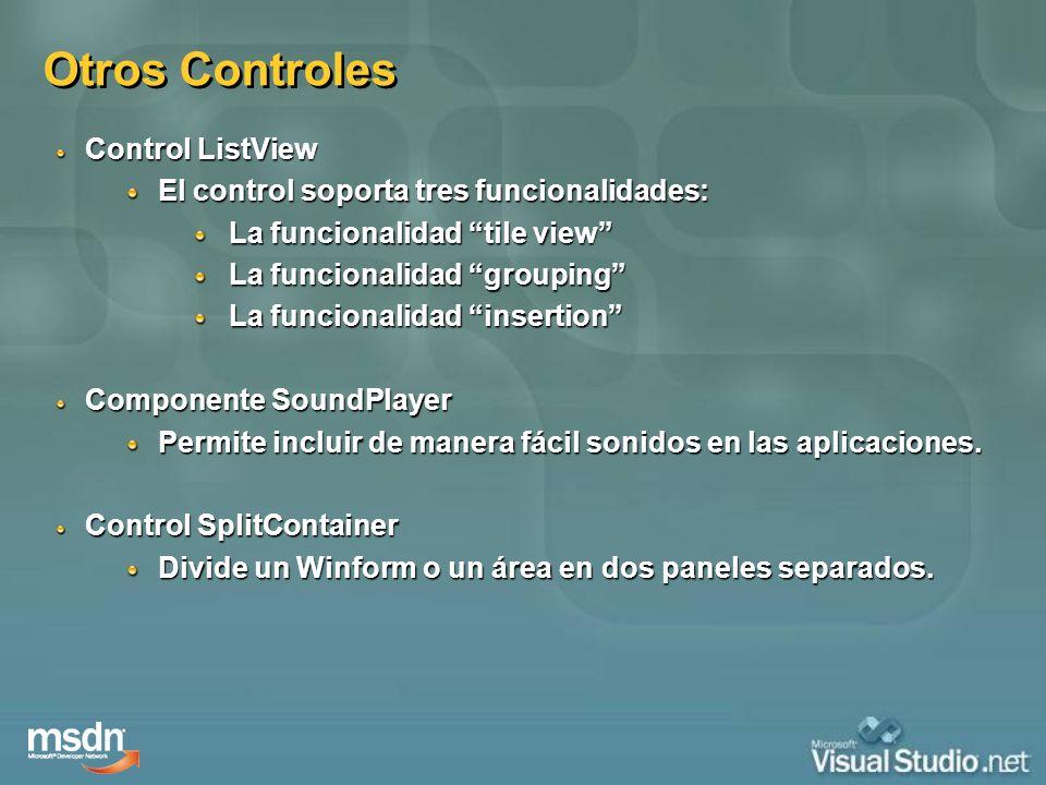 Otros Controles Control ListView