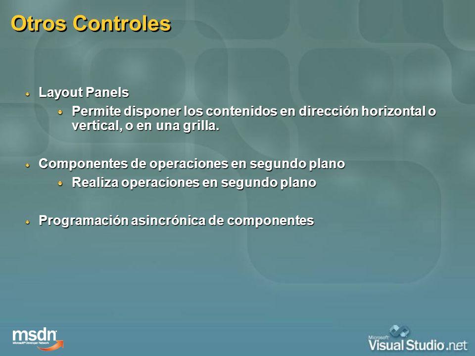 Otros Controles Layout Panels