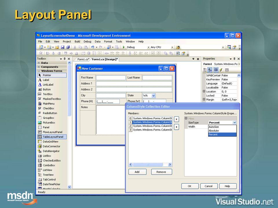 Layout Panel