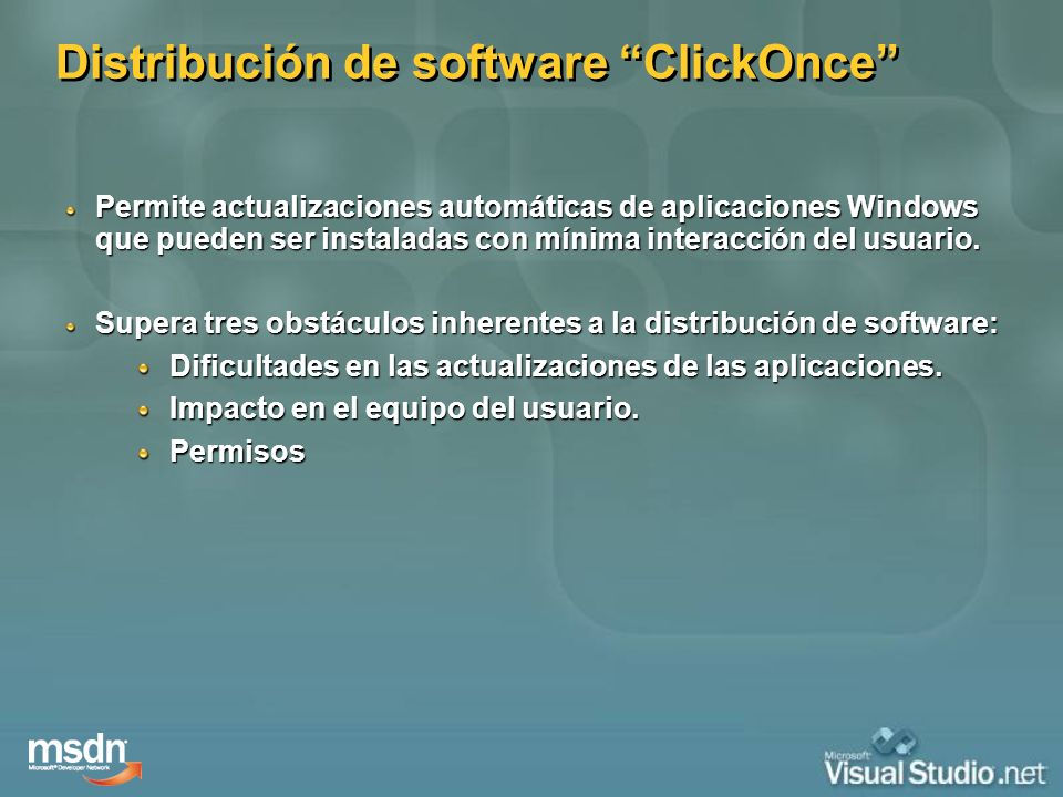 Distribución de software ClickOnce