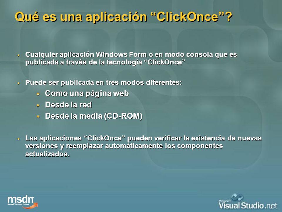 Qué es una aplicación ClickOnce