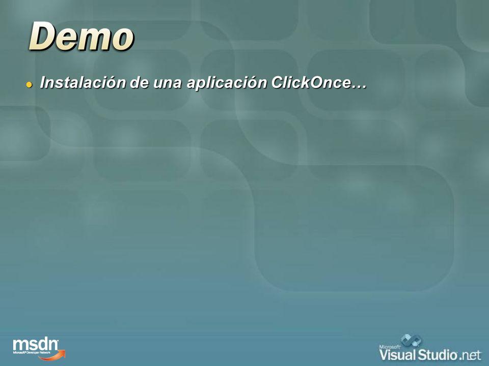 Instalación de una aplicación ClickOnce…