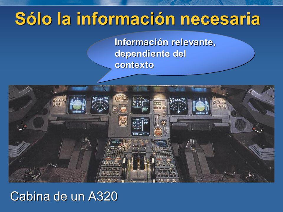 Sólo la información necesaria