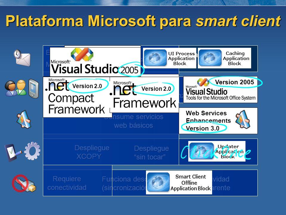 Plataforma Microsoft para smart client