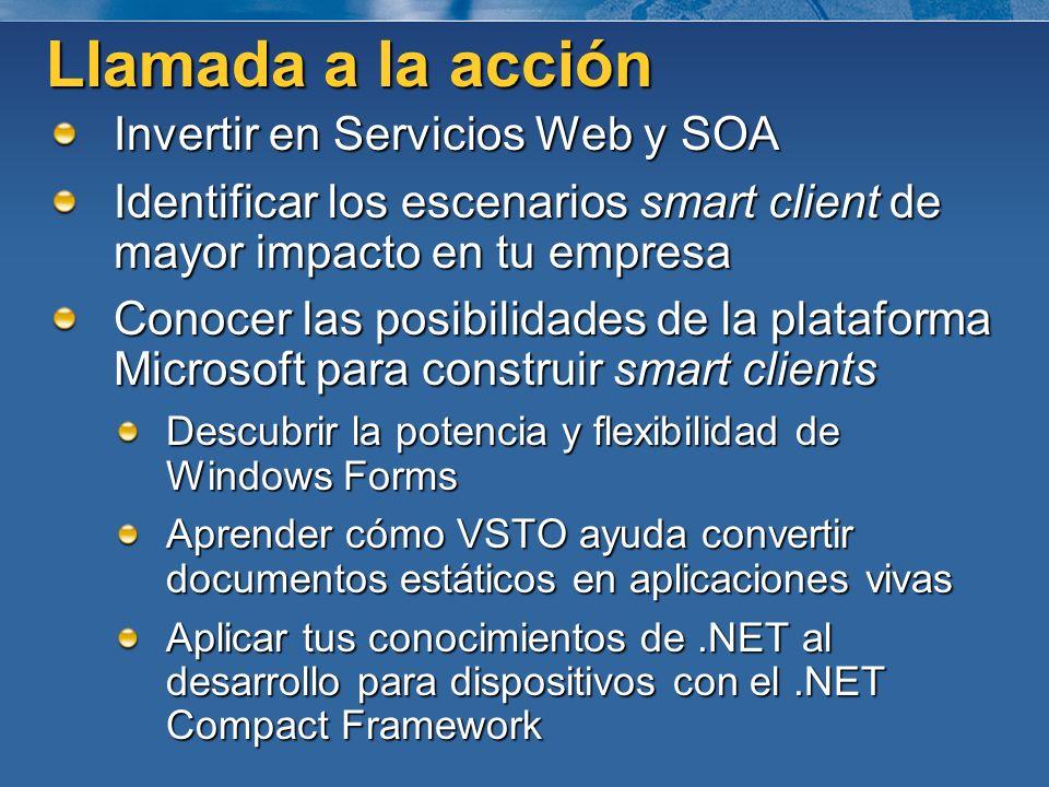 Llamada a la acción Invertir en Servicios Web y SOA