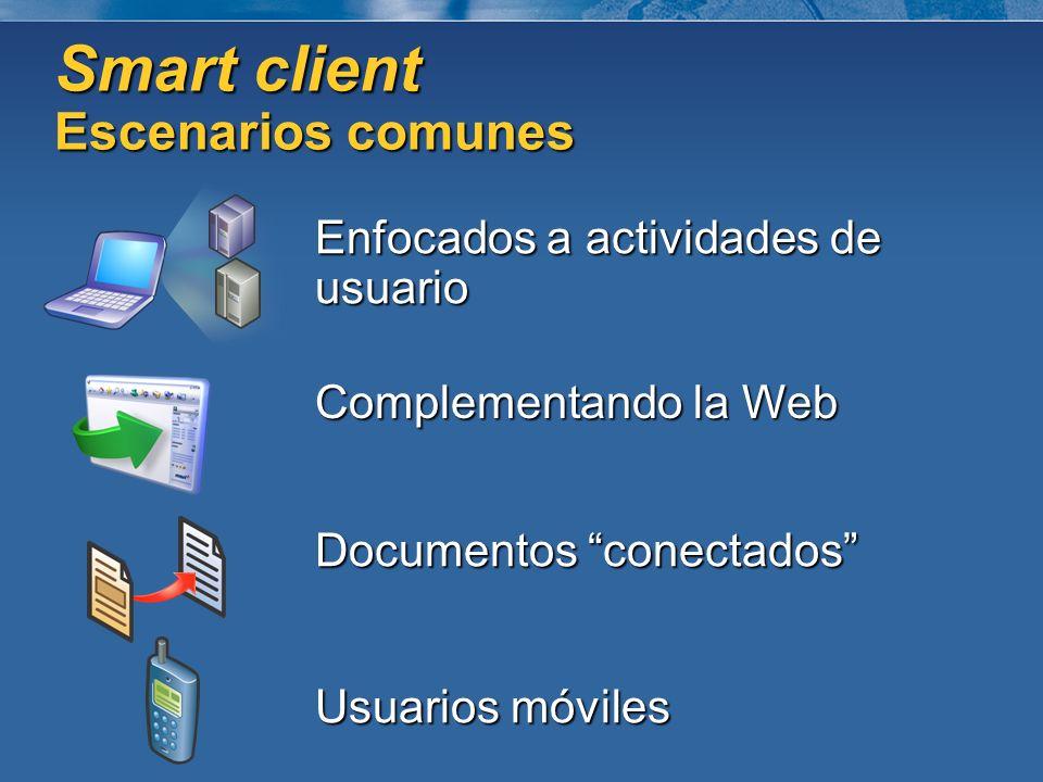 Smart client Escenarios comunes