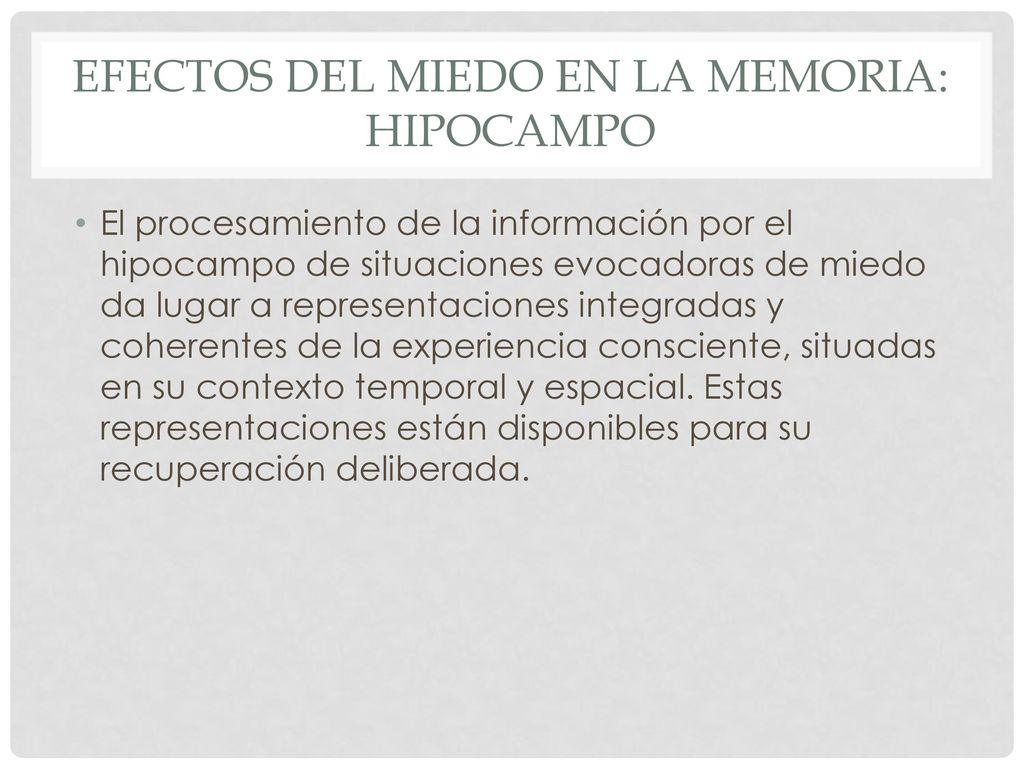 Psicopatolog a de la memoria ppt descargar - Efectos opticos de miedo ...