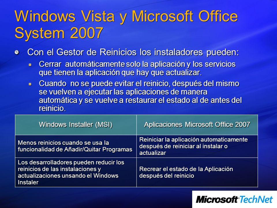 Windows Vista y Microsoft Office System 2007