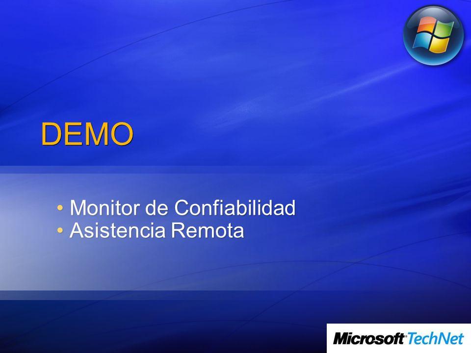 Monitor de Confiabilidad Asistencia Remota