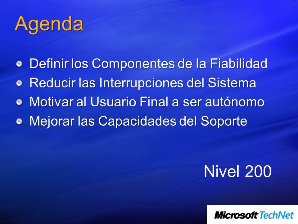 Agenda Nivel 200 Definir los Componentes de la Fiabilidad