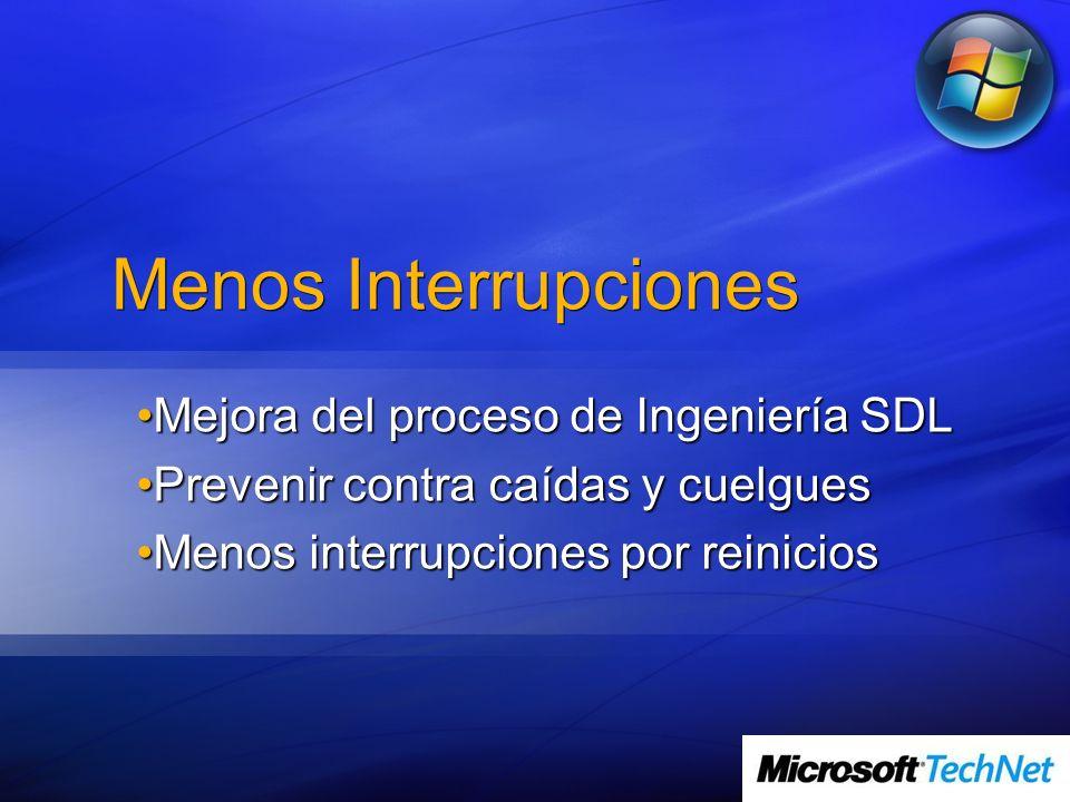 Menos Interrupciones Mejora del proceso de Ingeniería SDL