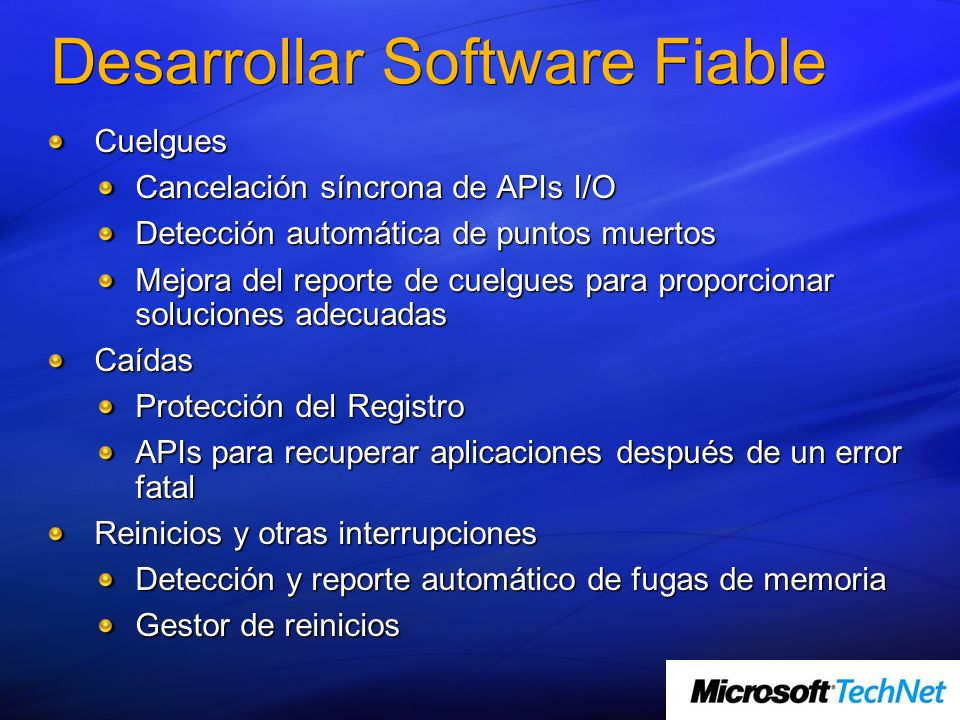 Desarrollar Software Fiable