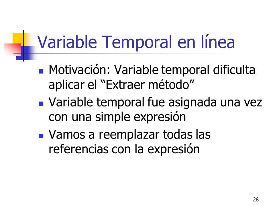 Variable Temporal en línea