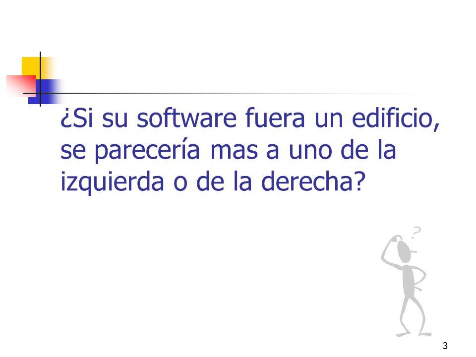 ¿Si su software fuera un edificio, se parecería mas a uno de la izquierda o de la derecha