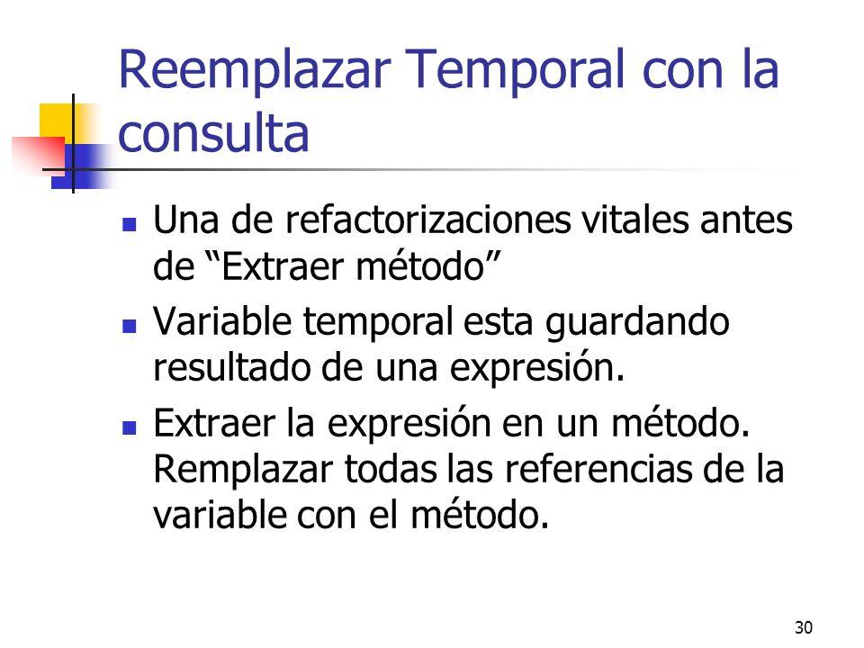 Reemplazar Temporal con la consulta