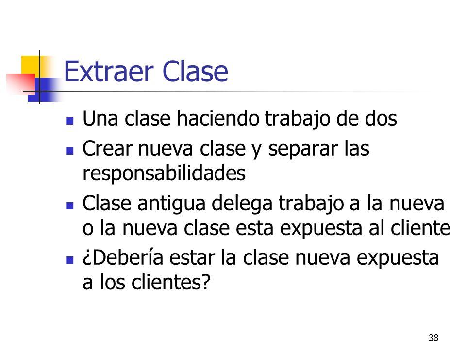Extraer Clase Una clase haciendo trabajo de dos