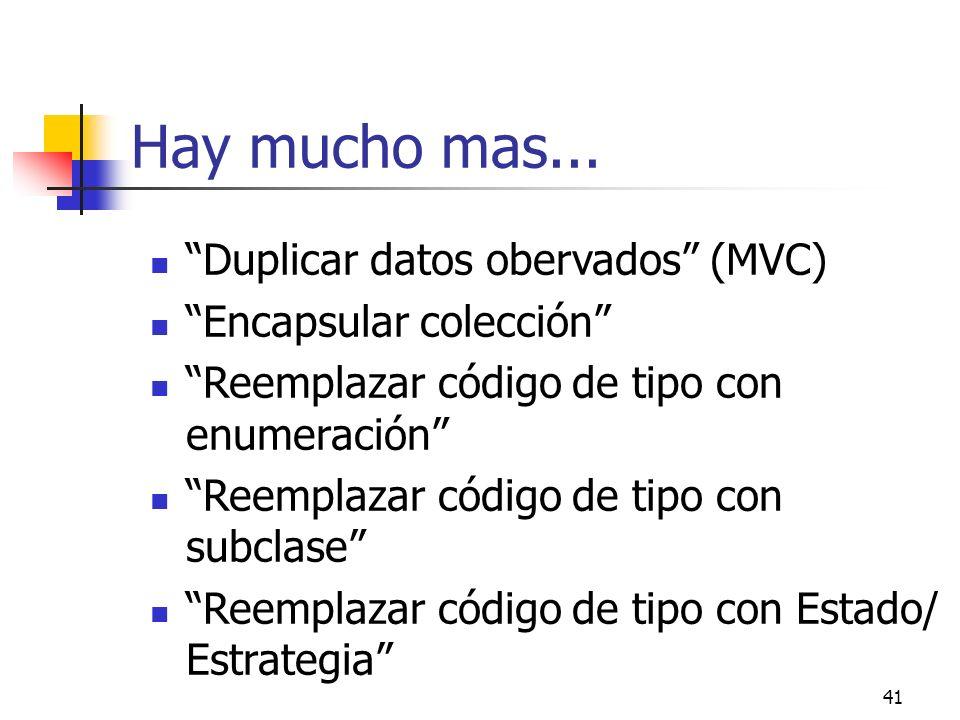 Hay mucho mas... Duplicar datos obervados (MVC)