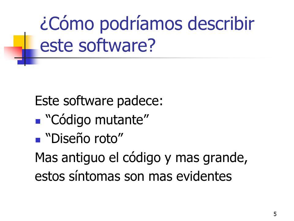 ¿Cómo podríamos describir este software