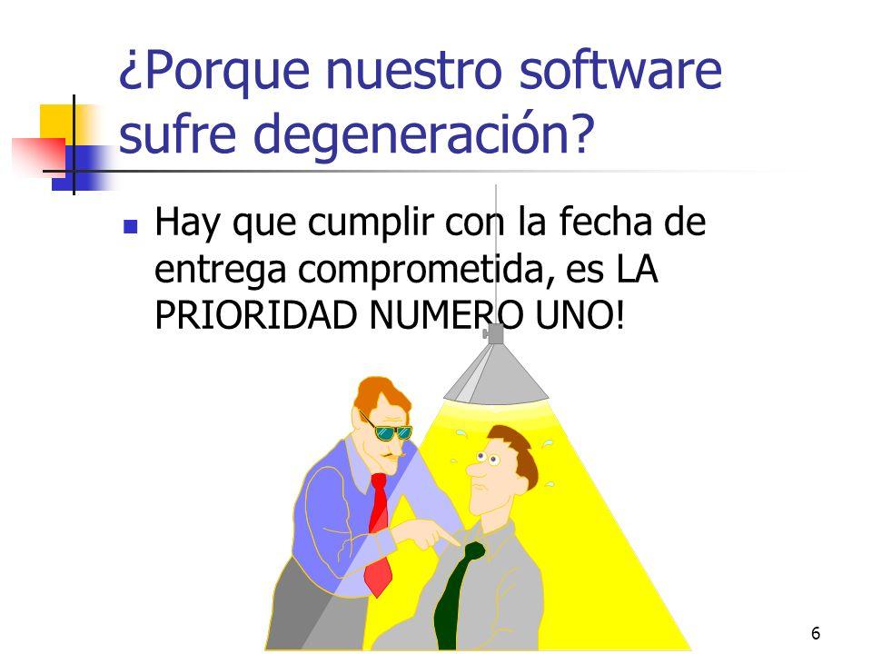 ¿Porque nuestro software sufre degeneración