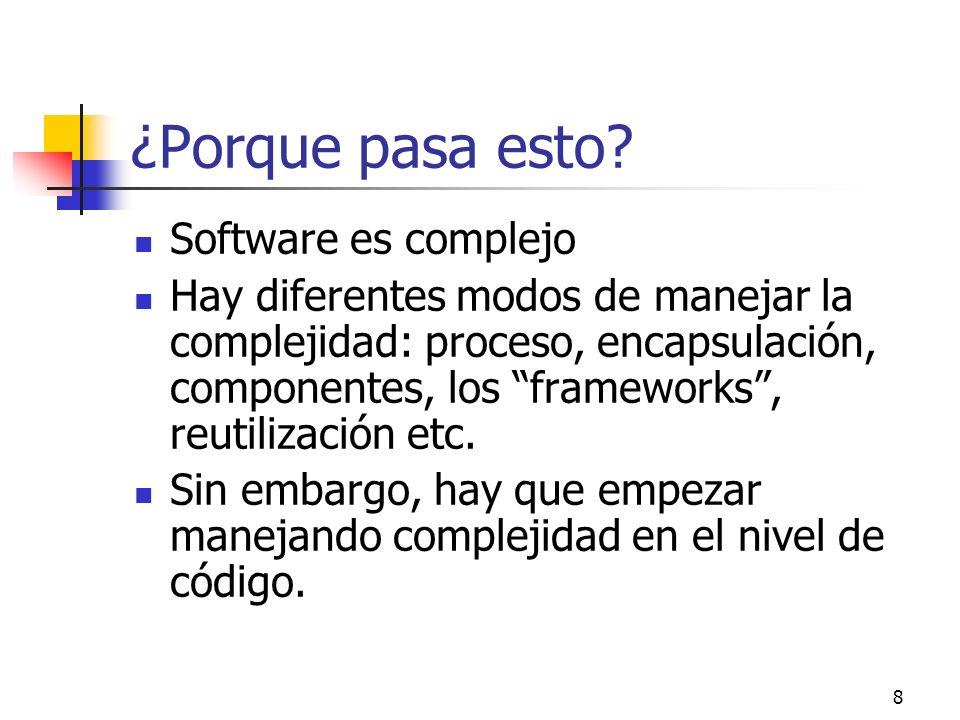¿Porque pasa esto Software es complejo