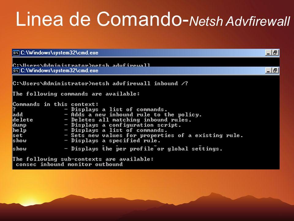 Linea de Comando-Netsh Advfirewall